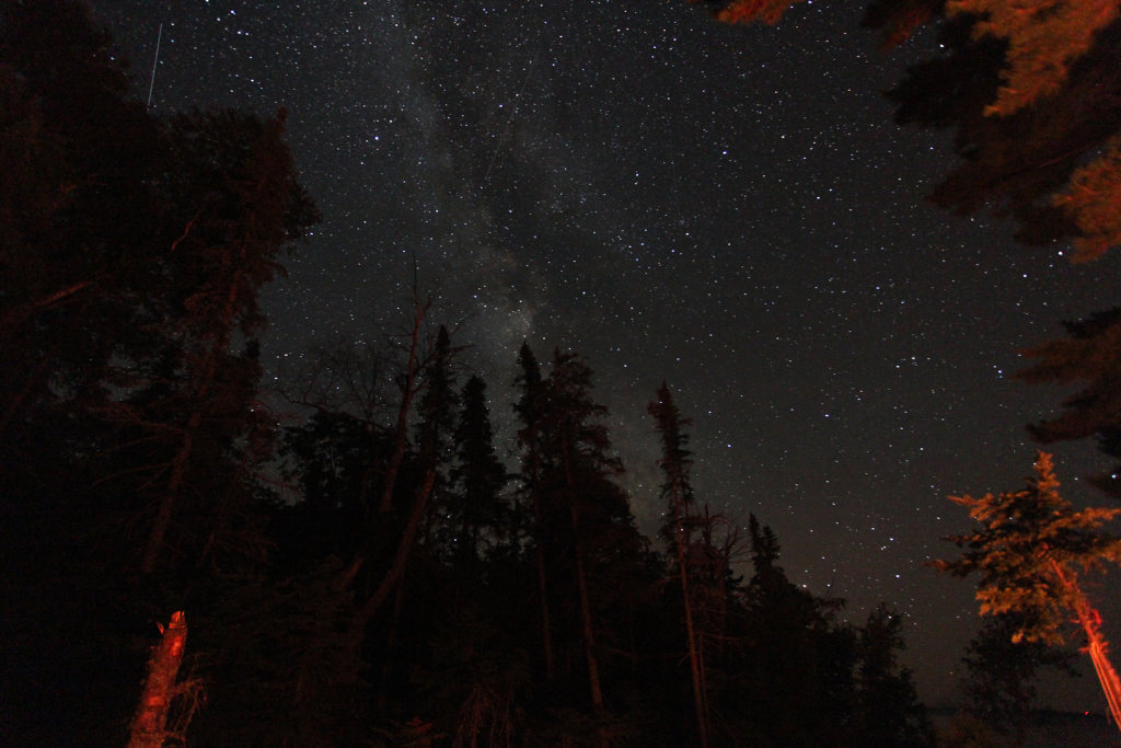 Milky Way over the main camp fire